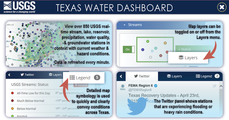 Show A Map Of Texas.Usgs Interactive Map Shows Flooding Across Texas Nbc 5 Dallas Fort